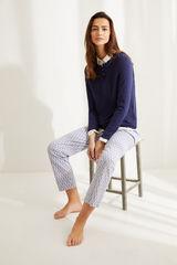Длинные пижамные брюки из хлопка с принтом