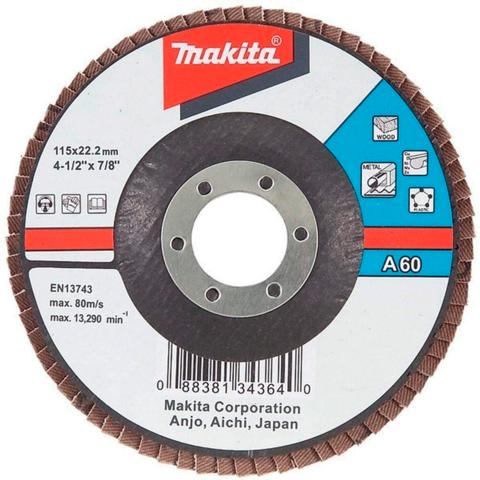 Лепестковый шлифовальный диск Makita А80 115 мм