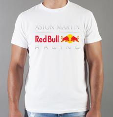 Футболка с принтом Астон Мартин (Aston Martin) белая 001