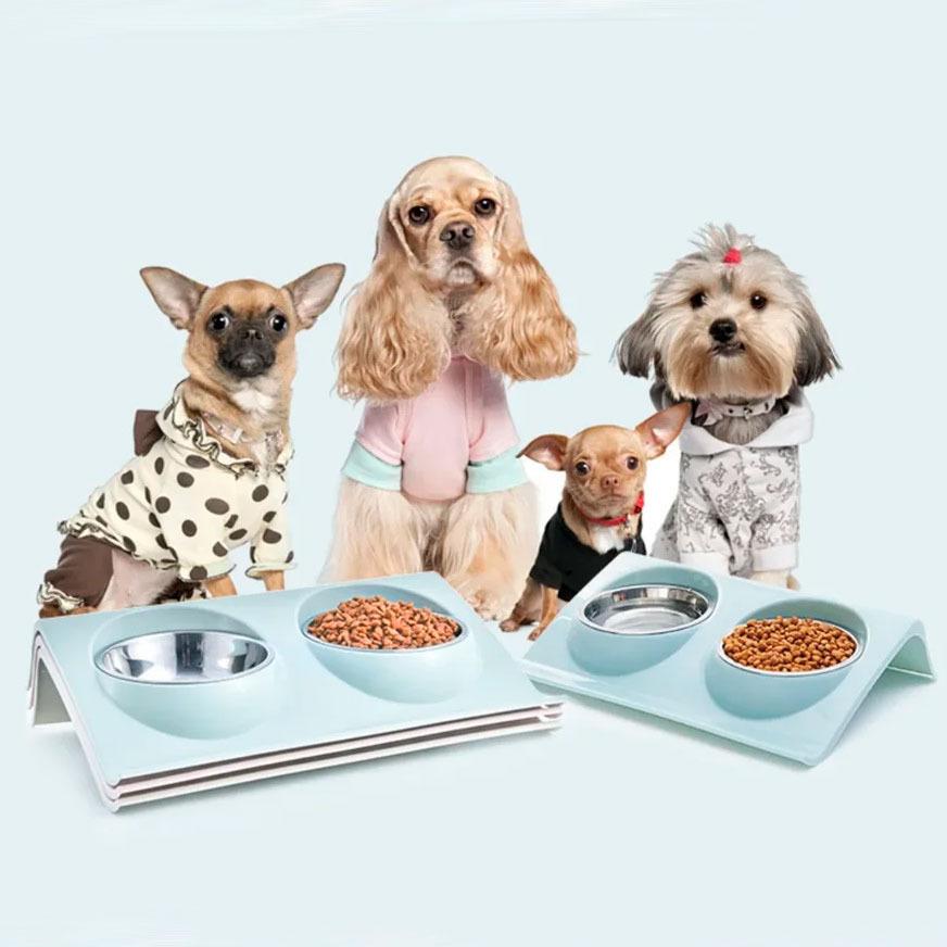 Подставка с мисками для маленьких собак