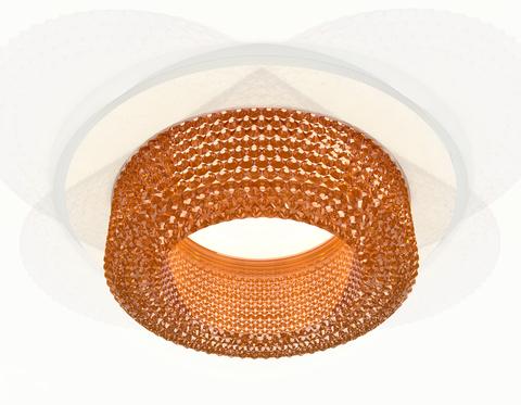 Комплект встраиваемого светильника XC7621024 SWH/CF белый песок/кофе MR16 GU5.3 (C7621, N7195)