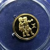 K12286 2003 Россия 25 рублей Близнецы, Au-999, 3,11 gr, UNC