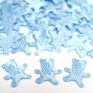 Конфетти атласное Медвежонок голубой 100шт