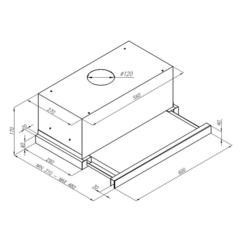 Вытяжка Konigin Helena Black II Glass 60 - схема