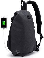Однолямочный рюкзак  ARCTIC HUNTER XB00045 USB Черный