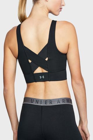 Женский черный спортивный топ UA Favorite Cotton Everyday Long Under Armour