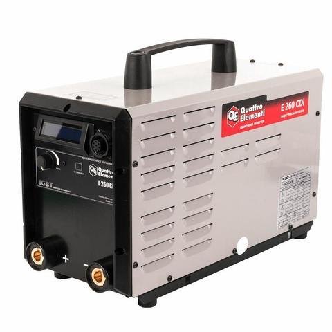 Аппарат электродной сварки, инвертор QUATTRO ELEMENTI E 260 (250 А, ПВ 100%, до 6 мм, Дисп (641-718)