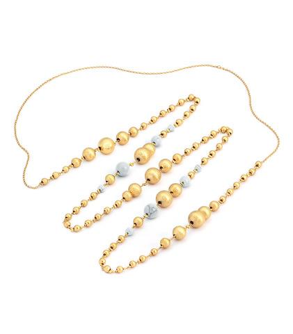 Золотые бусины с HUM (белые)