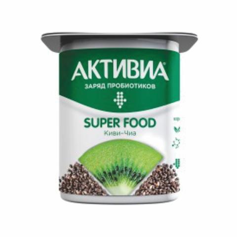 Йогурт АКТИВИЯ Суперфуд Киви Чиа 3,2% 120 г Danone КАЗАХСТАН