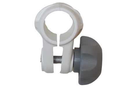 Хомут Cn022 на трубу Ø 22 мм, белый
