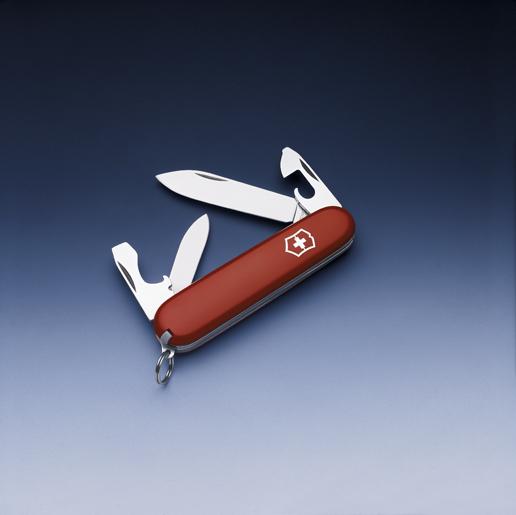 Нож Victorinox Recruit, 84 мм, 10 функций, красный