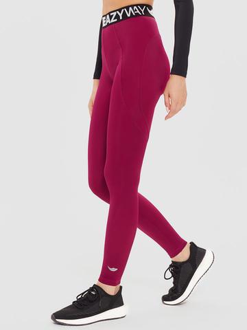 Леггинсы жен. для йоги и фитнеса с брендированной резинкой