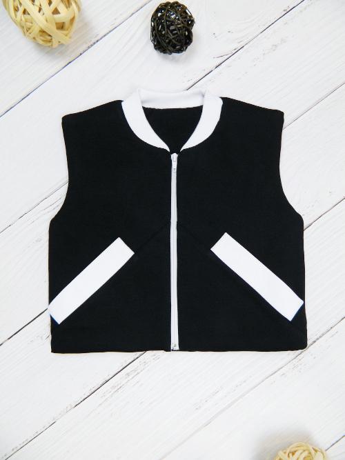 Жилет 3141, черно-белый