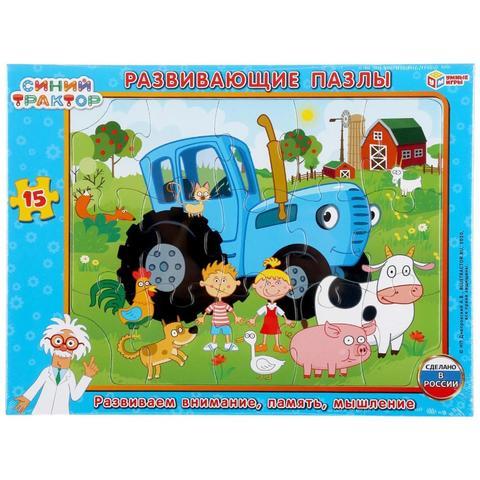 Пазл Синий трактор. 15 элементов