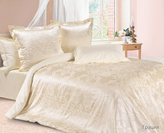 Жаккардовое постельное бельё 1,5 спальное, Грация