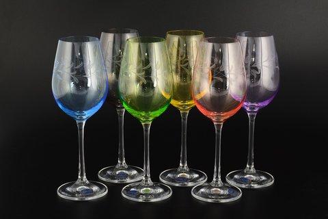 Набор из 6 бокалов для вина Viola Арлекино, 250 мл