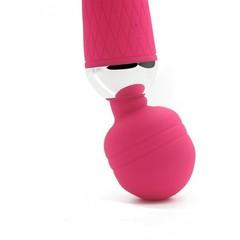 Розовый жезловый вибратор (16 режимов) розовый