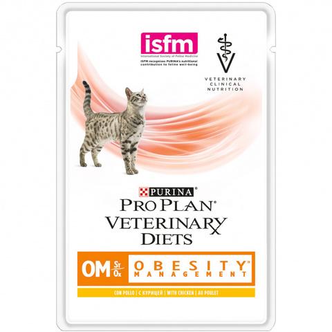 Корм для кошек Pro Plan Veterinary Diets Feline OM Obesity (Overweight) Management Chicken pouch 85 гр
