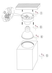 Накладной точечный светильник INL-7002D-01 White