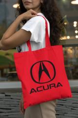 Женская сумка-шоппер с принтом Акура (Acura) красная 002