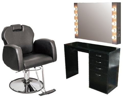 Парикмахерское место для мужского зала или визажа