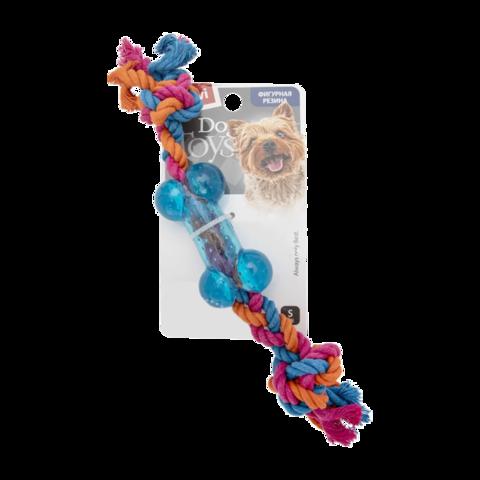 GiGwi Игрушка для собак Косточка маленькая на веревке