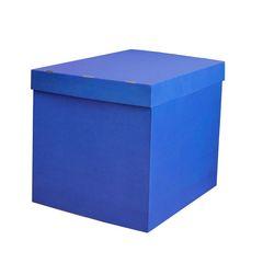 Большая коробка для шаров (синяя) 60*80*80