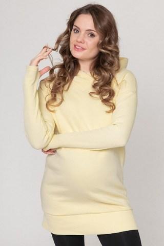 Утепленное худи для беременных и кормящих 10762 ваниль