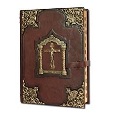 Библия большая с литьем и крестом