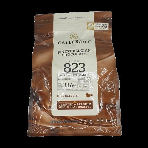 Бельгийский молочный шоколад (таблетки) 33,6% BARRY CALLEBAUT, 2.5 кг
