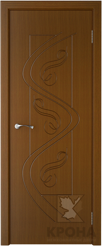 Дверь Крона Вега, цвет орех, глухая
