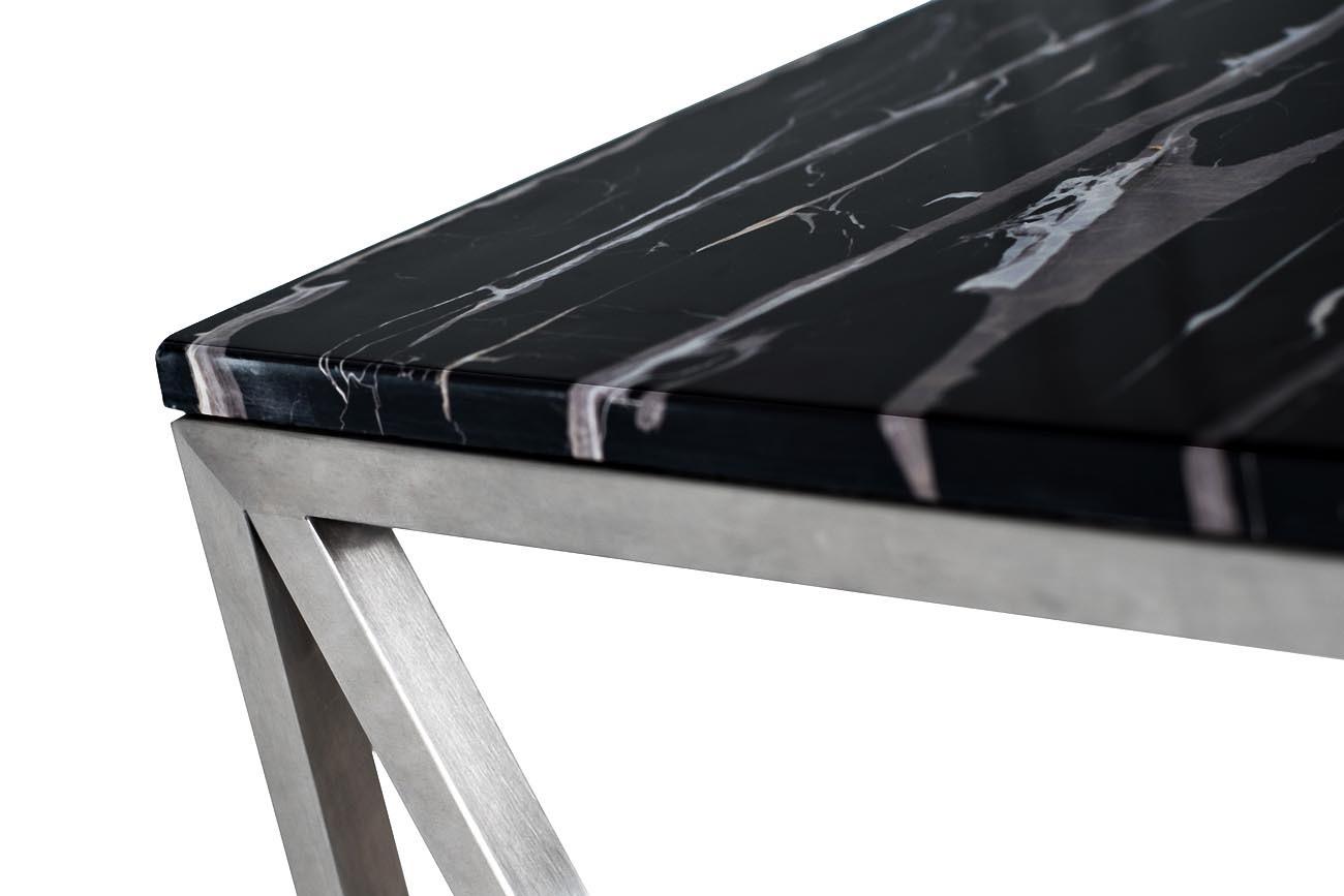 Консоль искусственный черный мрамор/мат.хром (47ED-CST023) Garda Decor