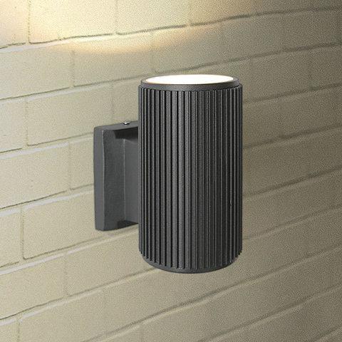 Уличный настенный светильник 1404 TECHNO черный