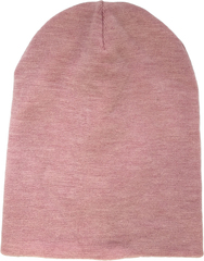 Зимняя шапка бини розовая