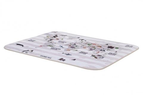 Плюшевый коврик 140х200 см Карта мира