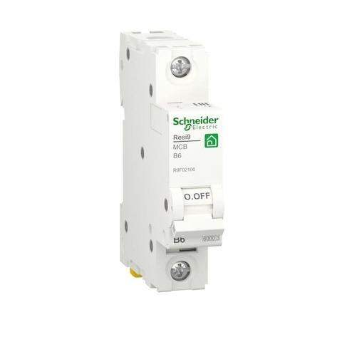 Автоматический выключатель 1P - 6 A тип B 1 модуль 230 В~. Schneider Electric Resi9. R9F02106