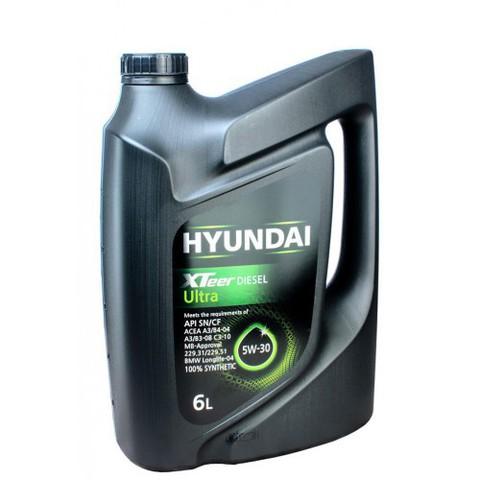 HYUNDAI XTEER DIESEL ULTRA 5W30 SN/CF Масло моторное полусинт. (пластик/Корея)
