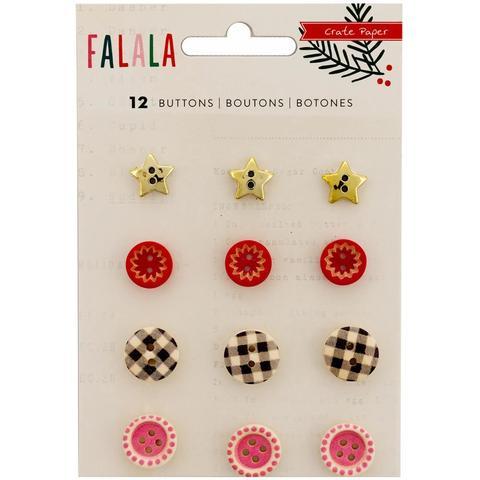 Пуговицы- стикеры Fa La La Buttons 12 шт