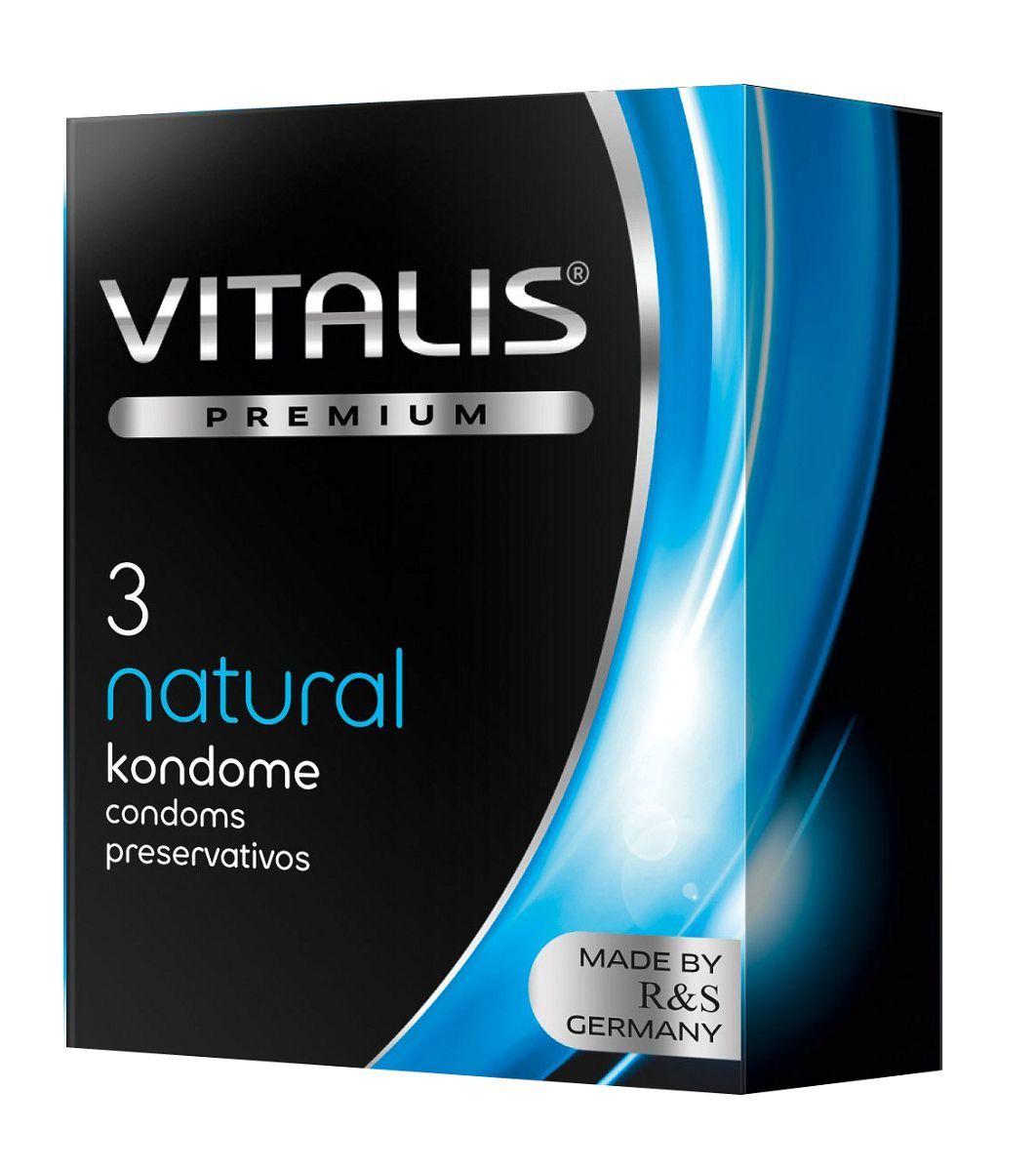 Классические презервативы VITALIS PREMIUM natural - 3 шт.