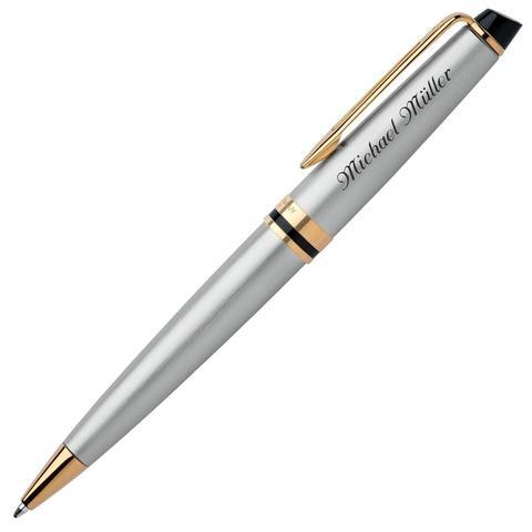 Шариковая ручка Waterman Expert 3, цвет: Stainless Steel GT, стержень: Mblue123