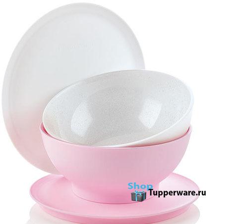Аллегро чаша 275мл - 2шт. в белом и розовом цвете