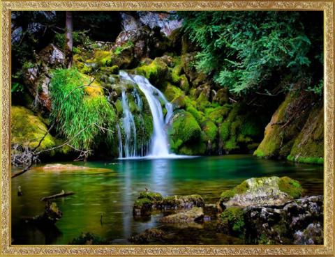 Алмазная Мозаика 40х50 Тихий водопад (арт. GA70445 )