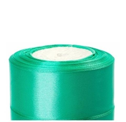 Лента атласная (размер:40мм х 25 ярдов) Цвет:бирюзовый