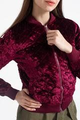 Короткая велюровая куртка Nadya