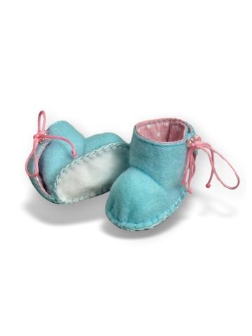 Сапожки из фетра на подкладке - Бирюзовый. Одежда для кукол, пупсов и мягких игрушек.