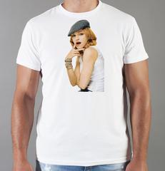 Футболка с принтом Мадонна (Madonna) белая 005