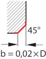 Фрезерная головка, фаска 45° HB730