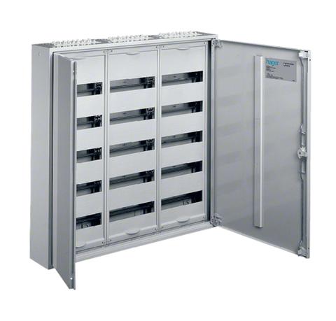 Щиток открытой установки,секционный,с оснасткой,IP44,950x800x161мм (ВхШхГ),две двери,RAL9010