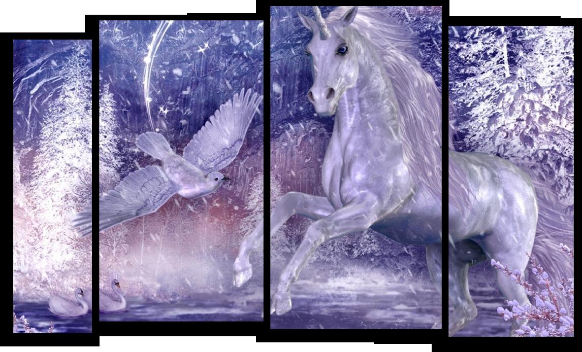"""Животные Модульная картина """"Единорог"""" М731.png"""
