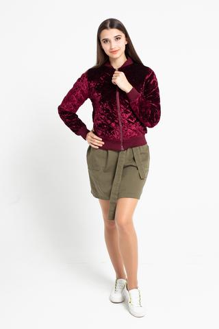 Короткая велюровая куртка недорого
